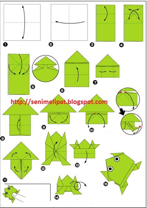 katak origami cara membuat katak dari kertas origami seni melipat