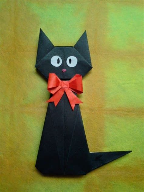 origami black cat 25 best ideas about origami cat on origami