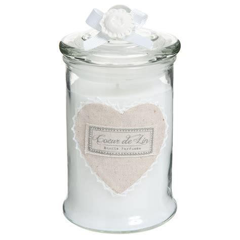 bougie parfum 233 e bonbonni 232 re en verre blanche h 15 cm cœur maisons du monde