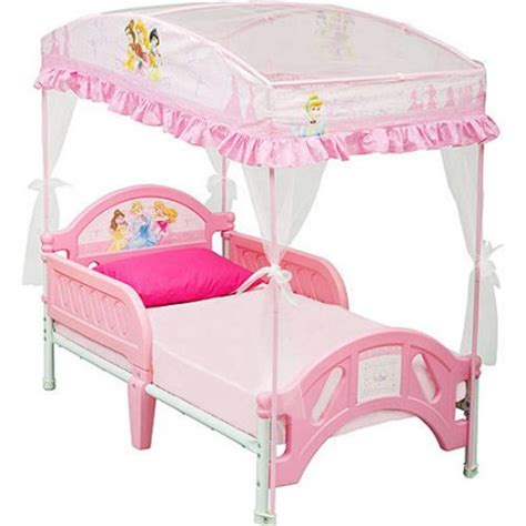 princess canopy bed disney princess toddler bed with canopy walmart