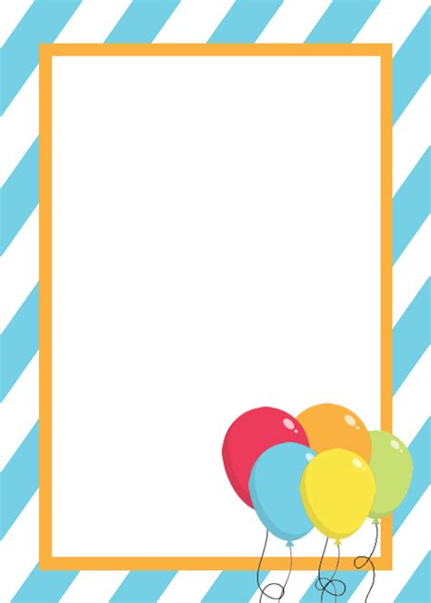 template for invitation free printable birthday invitation templates