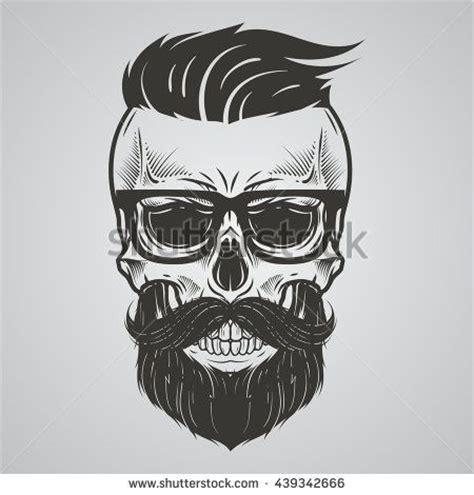 skull beard bearded skull illustration proyectos que intentar