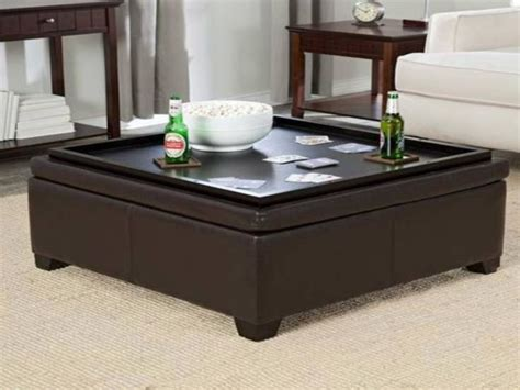 storage ottoman coffee table with trays cleaning ideas of ottoman coffee table tray
