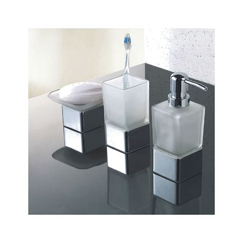 frosted glass bathroom accessories modern frosted glass chrome bathroom accessories pack soap