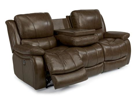 flexsteel reclining sofa flexsteel living room leather power reclining sofa 1343
