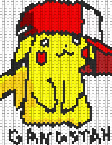 pikachu perler bead template gangstah pikachu bead pattern peyote bead patterns