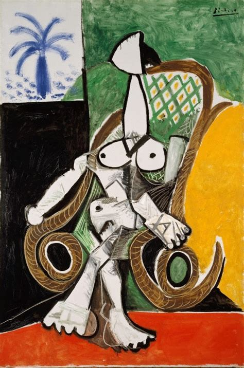 picasso paintings gallery in a rocking chair 1956 by pablo picasso the