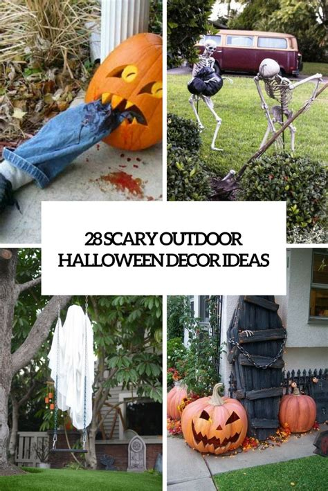 diy outdoor decoration ideas 28 scary outdoor d 233 cor ideas shelterness