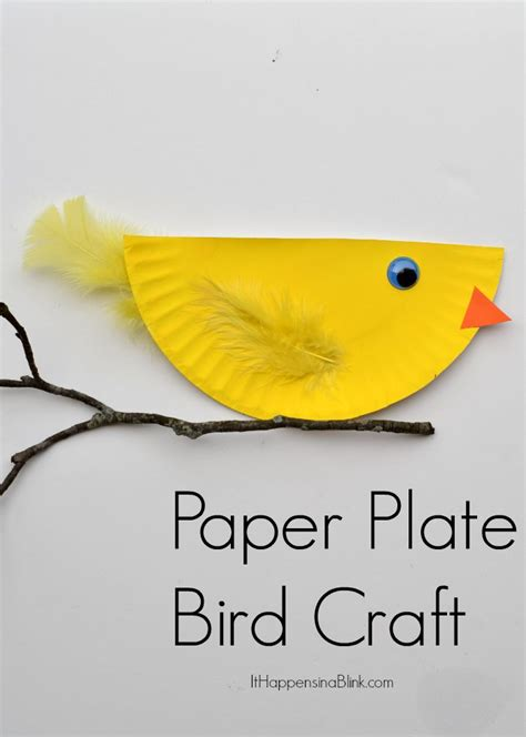 how to make parrot with craft paper paper plate bird and easy kid s craft tutorial