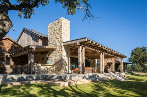 Craftsman Style Open Floor Plans llano ranch rustic porch austin by cornerstone