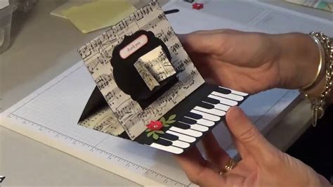 how to make board cards stin up piano easel card