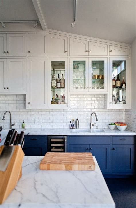 Paint Kitchen Island stylish two tone kitchen cabinets for your inspiration