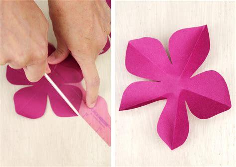 flower paper craft template icing designs diy paper flowers