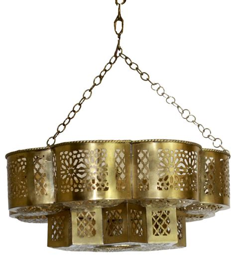mediterranean chandeliers moroccan brass ceiling light fixture mediterranean