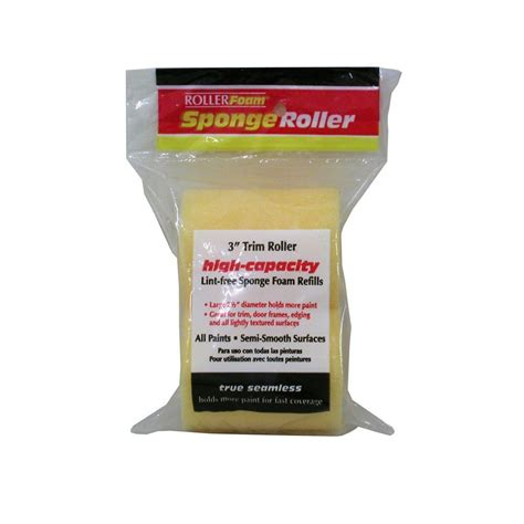 home depot paint roller covers 3 in x 3 4 in high capacity foam trim roller covers 2
