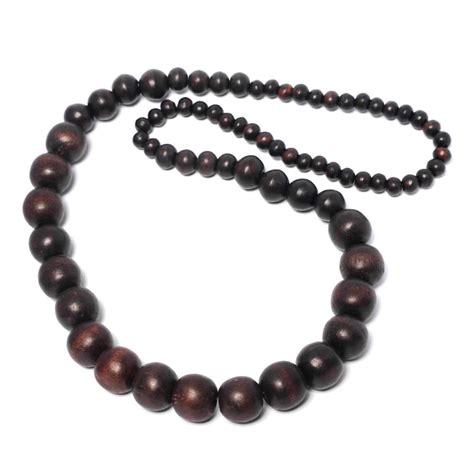 wooden beaded necklaces wood chain coco ring wooden coconut bead