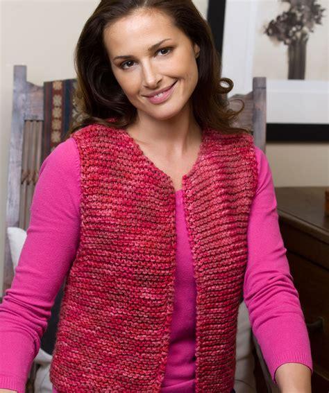 easy knit vest free patterns easy going vest knitting pattern
