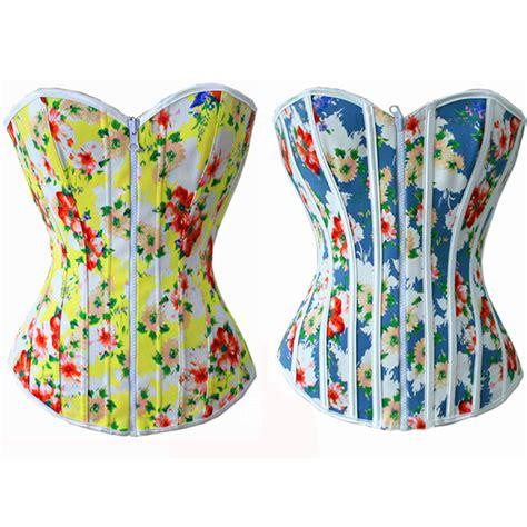 rainbow wholesale wholesale rainbow floral print reversible corset ouc514