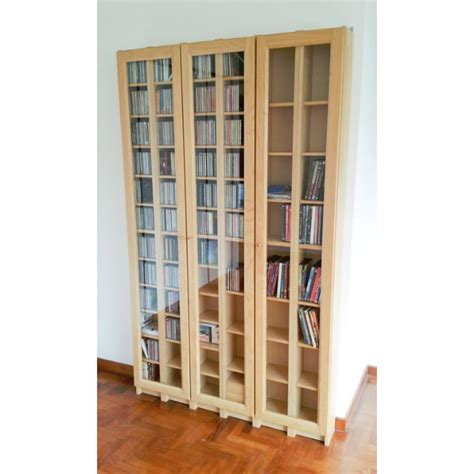 IKEA Gnedby CD/DVD/Book shelves with glass doors