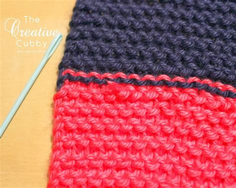 finish knitting the creative cubby how to finish a striped knitted scarf