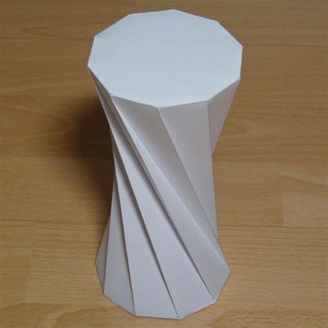 rectangular prism origami twisted decagonal prism paper model with