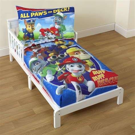 toddler crib bedding nickelodeon paw patrol toddler boy s 4 bedding set