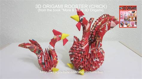 how to do 3d origami tutorial 3d origami rooster