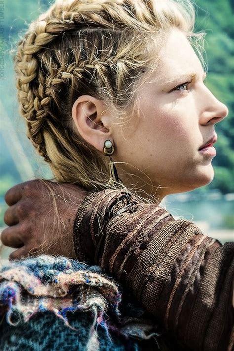 vikings hairstyles lagertha s braids blonde hair and braids pinterest