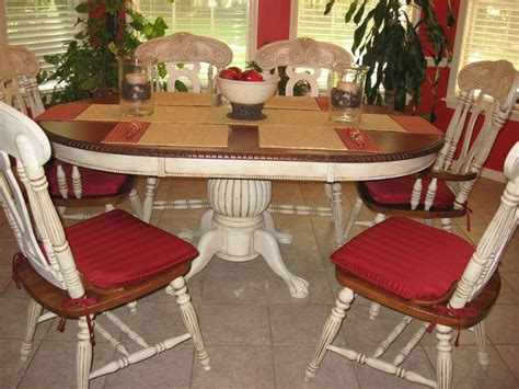 chalk paint ideas for dining table distressed my dining room table and chairs with