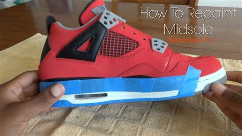 acrylic paint on canvas shoe how to repaint midsole w acrylic paint