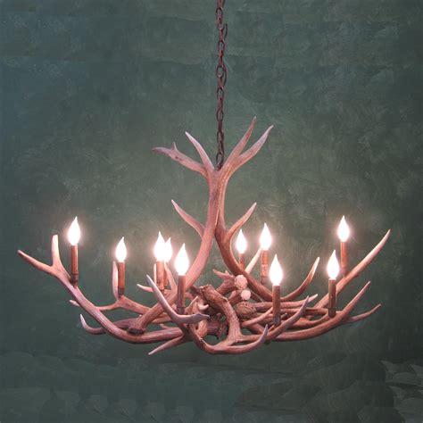 real antler chandeliers small oval elk antler chandelier