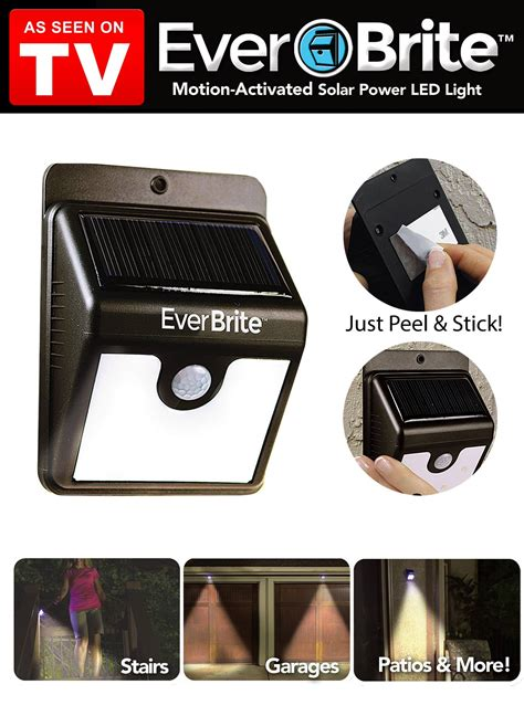 everbrite motion activated outdoor led light as seen on
