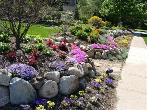 rock wall garden ideas maple leaf landscaping rock wall garden garden design
