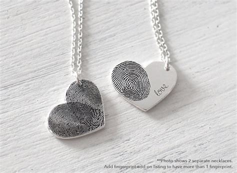how to make thumbprint jewelry custom actual fingerprint necklace delicate