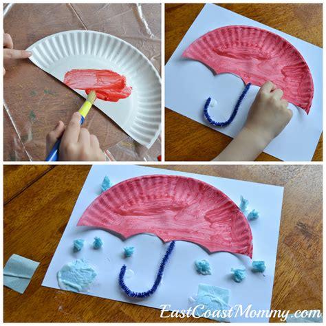 paper plate umbrella craft east coast alphabet crafts letter u