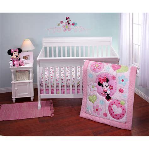 minnie mouse baby crib disney minnie sitting pretty 3 crib bedding set
