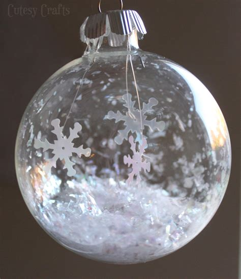 ornaments crafts glass snowflake ornament cutesy crafts