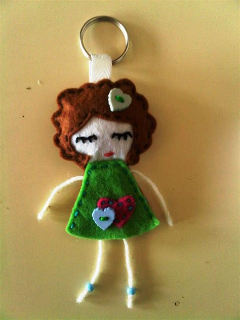 doll crafts for is like a rainbow felt craft doll keychain