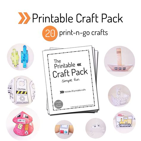 printable crafts for printable craft pack create in the chaos