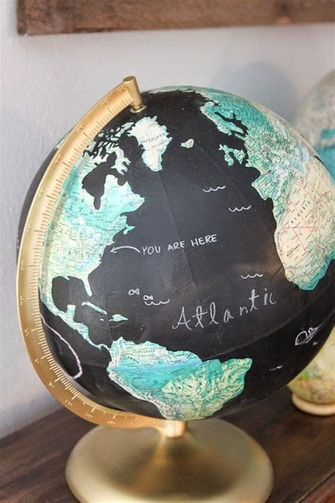 chalkboard globe diy globes diy chalkboard and chalkboards on
