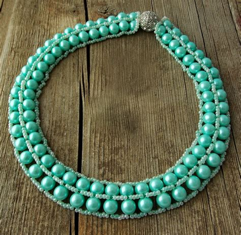 bead magic free pattern for necklace minty magic