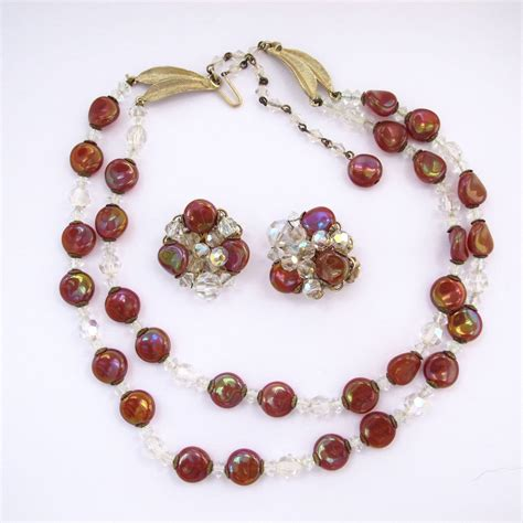 bead stores eugene oregon eugene iridescent glass bead necklace and earring set