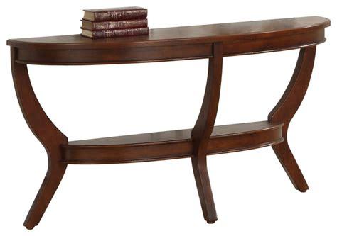 half moon sofa tables homelegance avalon half moon sofa table in cherry