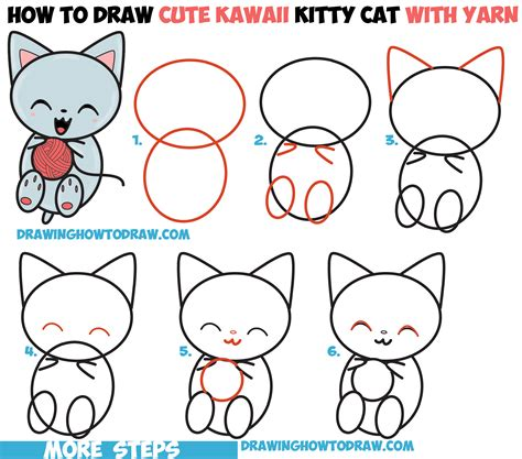 cat step by step how to draw a kitten step by cats kittens