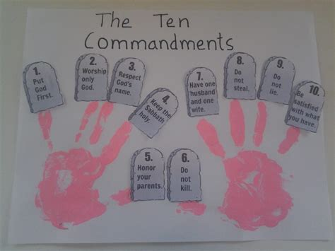10 commandments for crafts coloring pages teaching bible stories to children moses