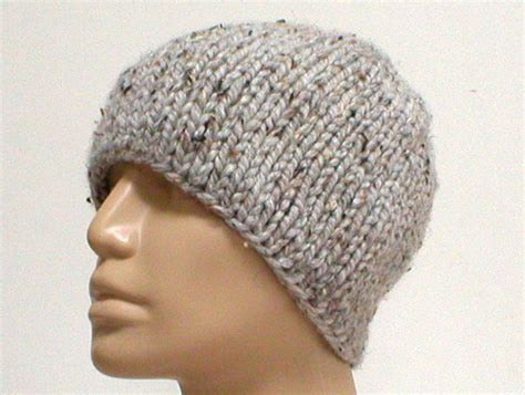 how to knit toque s grey marble tweed knit beanie hat skull cap by