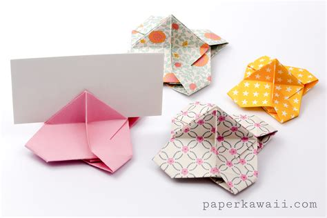 how to make a origami card origami card holder paper kawaii