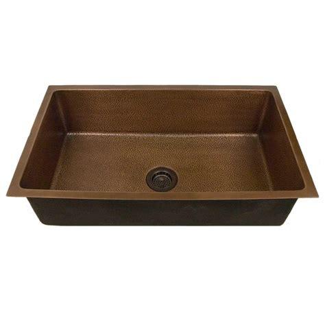 kitchen undermount sink 36 quot hammered copper undermount sink kitchen