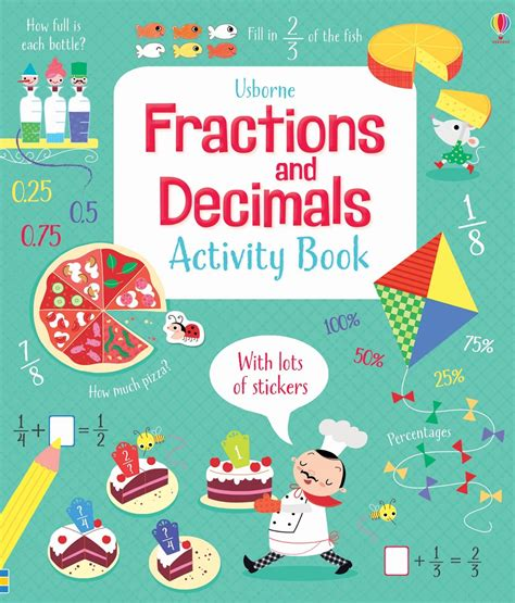 picture book activities fractions and decimals activity book at usborne children