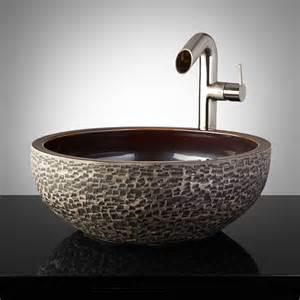 Pottery Vessel Sinks by Flores Hand Glazed Pottery Vessel Sink Charcoal Gray